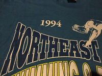 Vintage 1990's High School SWIM CHAMP Ohio Swimming Diving 1994 T Shirt sz Large