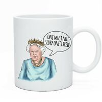 Novelty Tea & Coffee Mug Cup Funny Queen Design Perfect For Work & The Office