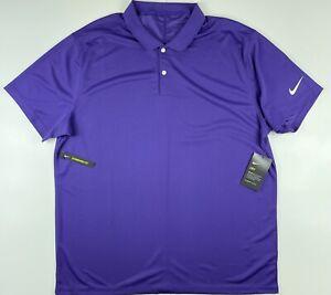 Nike Golf Victory Dri Fit Purple Polo Golf Shirt BV0356-547 XL $55