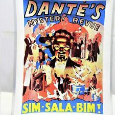 Dante's Mystery Revue Glass Tray Magician Harry Jansen 1884-1955 Plate Dish