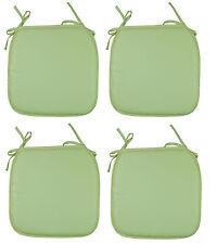4 x Seat Pads Green Garden Chair Cushion Kitchen Dining Patio Chair Cushion Pads