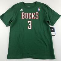 Adidas NBA Milwaukee Bucks T Shirt Youth L Large 14-16 Jennings 3 Short Sleeve