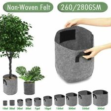 Soft Plant Pot Non Woven Design 1-30 Gallon Garden Supplies Root Plants Handles