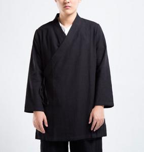 New Linen Tai Chi Kung Fu Jacket Wing Chun Meditation Wear Martial Arts Wear