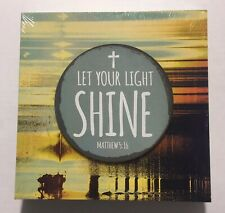 Let Your Light Shine Wooden Sign Home Wall Decor Office Bathroom Bible Verse