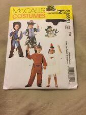 MCCALL'S COSTUMES 2851 SIZE 7-8 GIRLS BOYS COWBOYS INDIANS