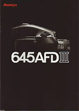 ((( 3 languages to pick ))) MAMIYA 645 AFD III CATALOG/BROCHURE (ORIGINAL PRINT)
