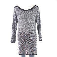 0c1d9b00b18 PLEASE Made in Italy Damen Long Pullover Gr 38 Grau Wolle Grobstrick NP 150  NEU