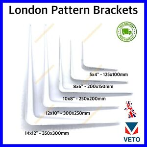 SHELF BRACKETS WHITE London Shelving Metal Shed Garage Garden BULK BUY BOX 10/20