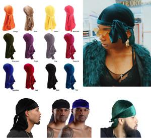Velvet Durag Hat Cap Unisex Women Premium Designer Doo Rag Wave Silk UK**