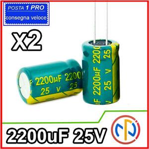 Condensatori elettrolitici da 50 V 16 x 25 mm 2200 UF Kungfu Mall 10 pezzi