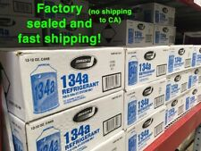 *** R134a FACTORY SEALED CASE - FAST SHIPPING Refrigerant 12 cans Johnsen's A/C
