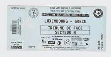 Orig.Ticket   WM Qualifikation  06.09.2008  LUXEMBURG - GRIECHENLAND  !!  SELTEN