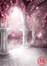 Arco De Magia Blanca Rosa Bebé Vinilo de telón de fondo Fondo Foto Pro 5X7FT 150x220CM