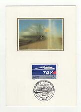 France TGV tampon à date 1990 timbre sur carte maximum /B5B6