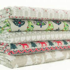 Christmas Fat Quarter Bundle - Silver Scandinavian & Trees  - Polycotton