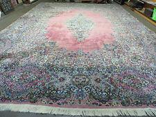 """11' x 15' 6"""" antike persische Kirman BAM Teppich Ravar Lavar handgeknüpft Wolle schön"""