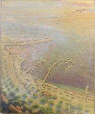 Tableau Peinture 20èm XXèm Paysage Signé Saint Tropez 1966 Divisionnisme Marquet