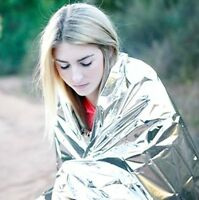 New 1 pcs Emergency Survival Blanket Thermal Blanket First Aid Rescue Outdoor