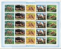 Rwanda 1296a,MNH, Wild Animals SCV-$175.00 x1201