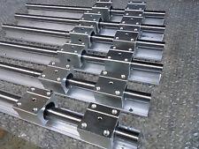 2x ( SBR16-750mm /750 mm/ 260 mm ) Liner Rail Support & 12 SBR16UU Block Bearing