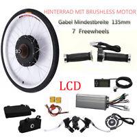 "LCD 1000W 48V Electric Bicycle Motor Conversion Kit 26"" E Bike Speed Rear Wheel"