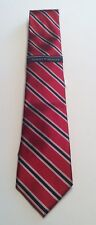 Tommy Hilfiger NEW Red Navy Striped Satin Mens Casual Business Necktie $65 589
