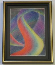 MYSTERY EXPRESSIONIST 1950'S DRAWING ABSTRACT EXPRESSIONISM NON OBJECTIVE VNTG