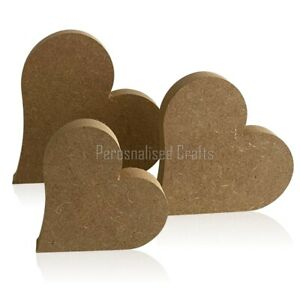 Free Standing MDF Wooden Heart Shape Crafts / Valentine's 100mm 125mm 150mm