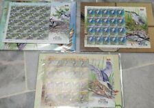 Malaysia Burung Pucung Herons Bitterns Birds 2015 Stamp 3 Sheets Sheetlet MNH