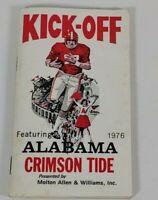 Kick-off Booklet Preview Of 1976 Alabama Crimson Tide Football Team