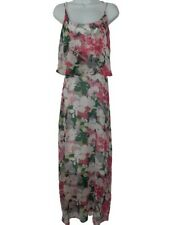 Kaleidoscope UK 16 Pink Floral Maxi Dress Tummy Concealing Slimming Occasion