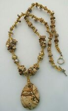 African Queen Picture Jasper Crystals Necklace