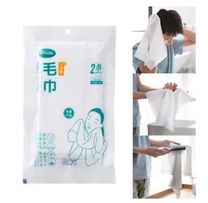 Non-Woven Face Towel Travel Diposable Hygiene Hotel Sports School Works 2 Pcs