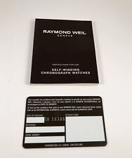 Raymond Weil Operational Manual for Automatic Watches