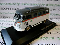 voiture 1/43 ROAD SIGNATURE : VOLKSWAGEN kombi T1 Microbus 1962 blanc/gris