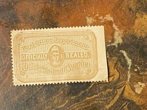 LATE 19TH CENT US POST OFFICE ''OFFICIALLY SEALED''  STAMP
