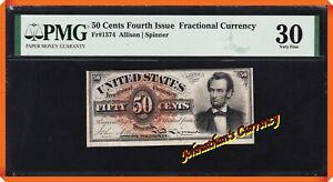 JC&C - Fr.1374 Fractional Currency Fourth Issue 50¢ - PMG 30