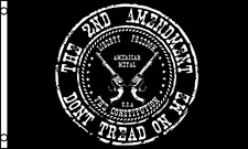 2nd Amendment Gun Rights Don't Tread On Me 100D Polyester 3x5 Flag Gadsden