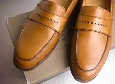New Brooks Brothers Peal Co Brown Calf Loafers Shoes MSRP $598 NIB 10D