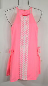 LILLY PULITZER Pearl Romper Dress Lilly's Coral Size 0 NWT