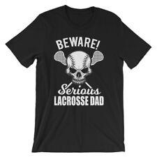 Beware Serious Lacrosse Dad Lacrosse Lovers T-Shirt Black Gildan 6400