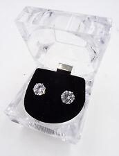 12 New Wholesale Rhinestone Stud Earrings in Acrylic Display Boxes #D778