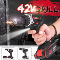 42V Rechargeable Electric Pistol Drill Cordless Impact Screwdriver & Li Battery