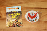 Tom Clancy's The Division 2 Promo Rare Gardening Kit & Patch PS4 Xbox One