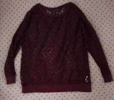 Ladies LACE Top 18*CHRISTMAS/NEW YEAR*Velvet/Chenille Lace*Long Sleeves*@@LOOK@@