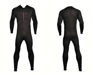 New Chest Zip Zipper 4/3 Wetsuit Black Full Body Vertical Front Zip Size Medium