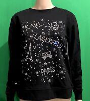 Karl Lagerfeld Paris Women Sweatshirt Graphic White/Gold Black/Silver Variety Sz