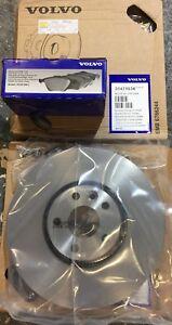 GENUINE VOLVO XC60 (-15) FRONT BRAKE DISCS & PADS 17 INCH 2 X 31471034 31687104
