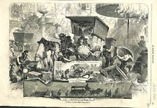 Le Terme de Juillet Déménagement Enterrement par Edmond Morin 1866 ILLUSTRATION